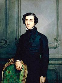 Historic painting of Alexis de Tocqueville